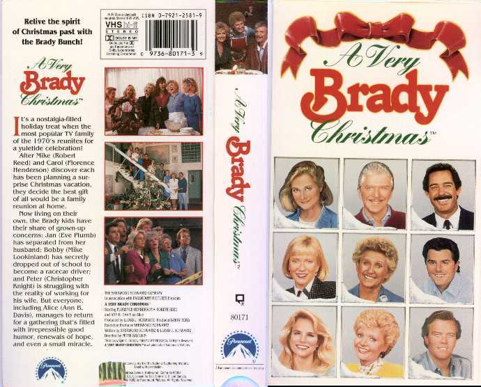 A Very Brady Christmas VHS Cover - Sitcoms Online Photo Galleries