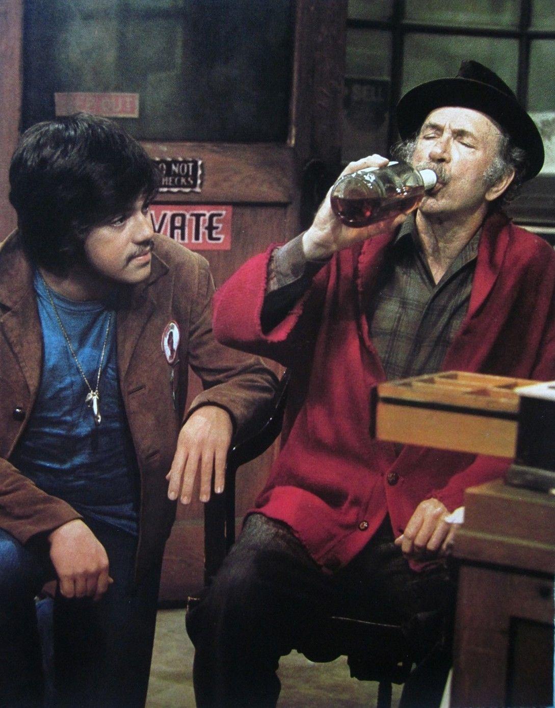 CHICO_THE_MAN_clipping_1970s_Jack_Albertson_Freddie_Prinze_color_photo