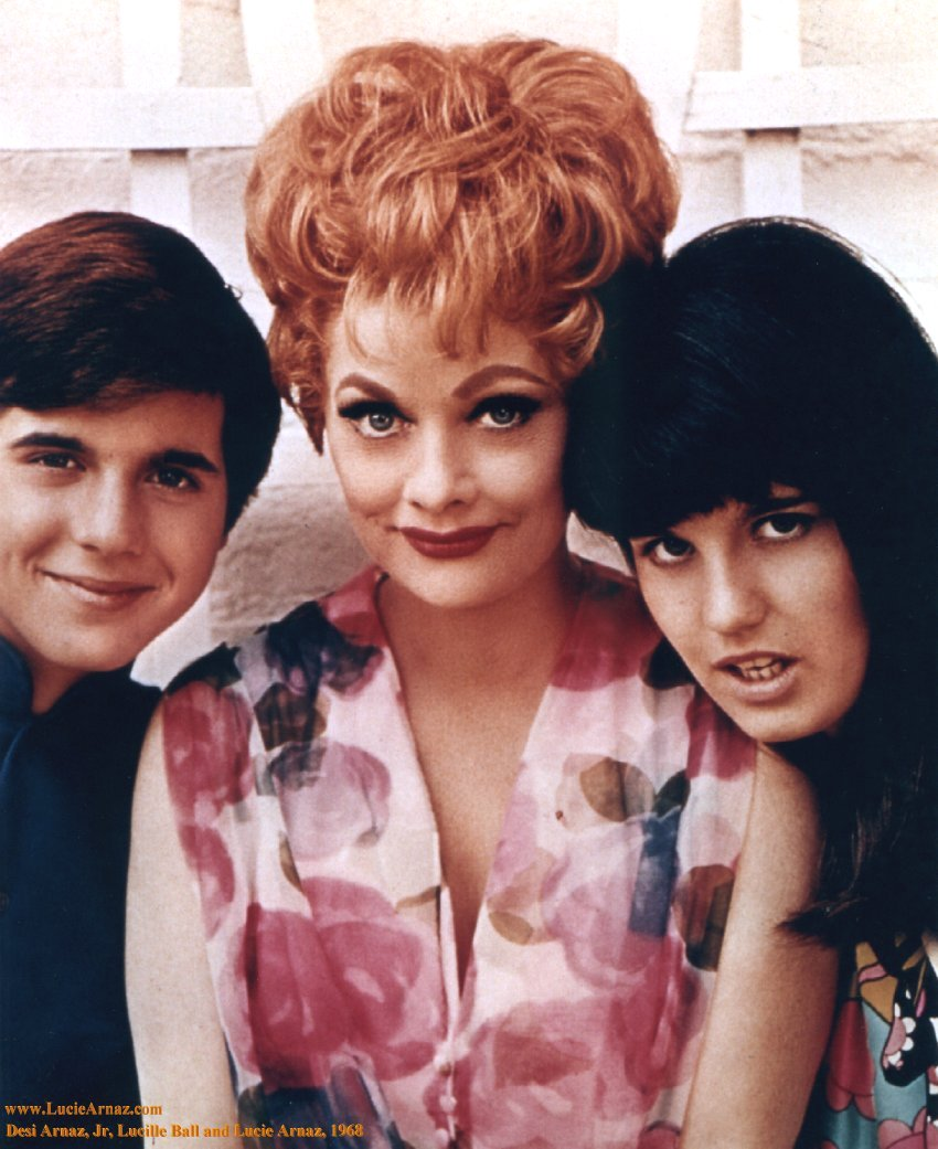 here s lucy desi arnaz jr lucille ball and lucie arnaz