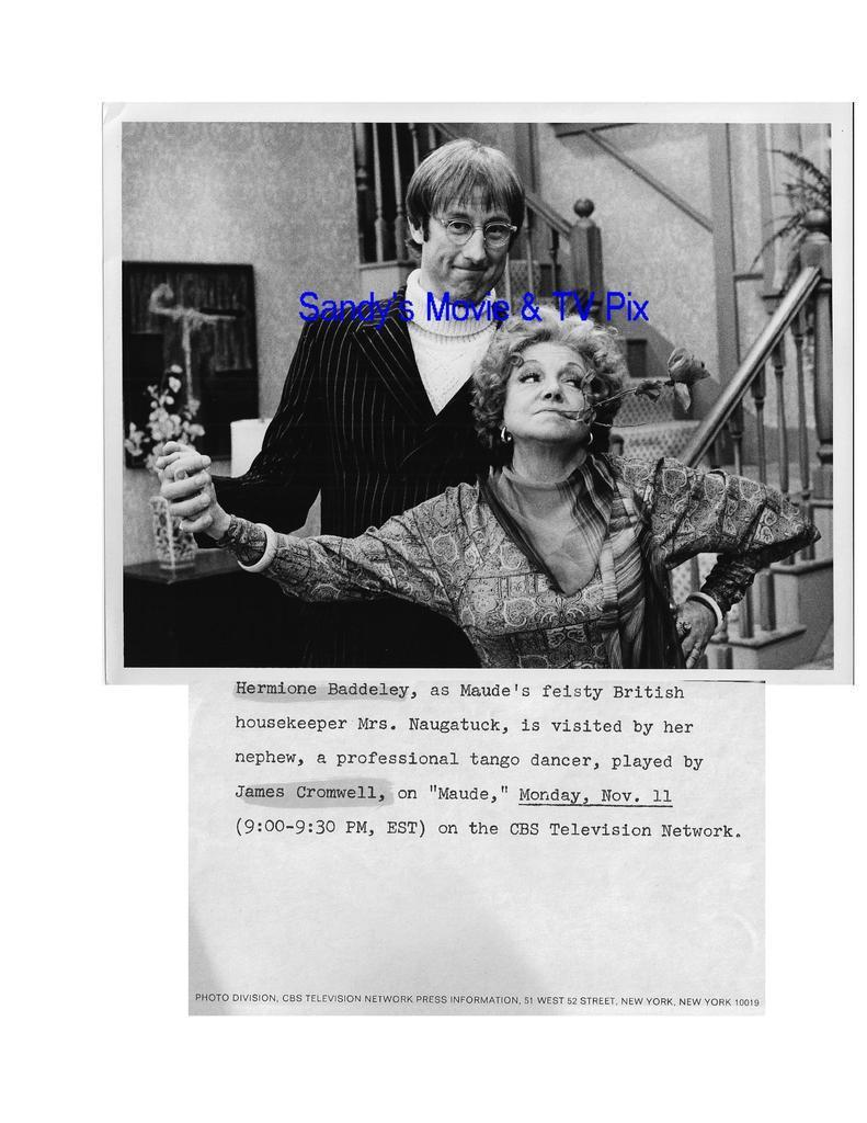 HERMIONE_BADDELEY_JAMES_CROMWELL_Original_TV_Photo_MAUDE
