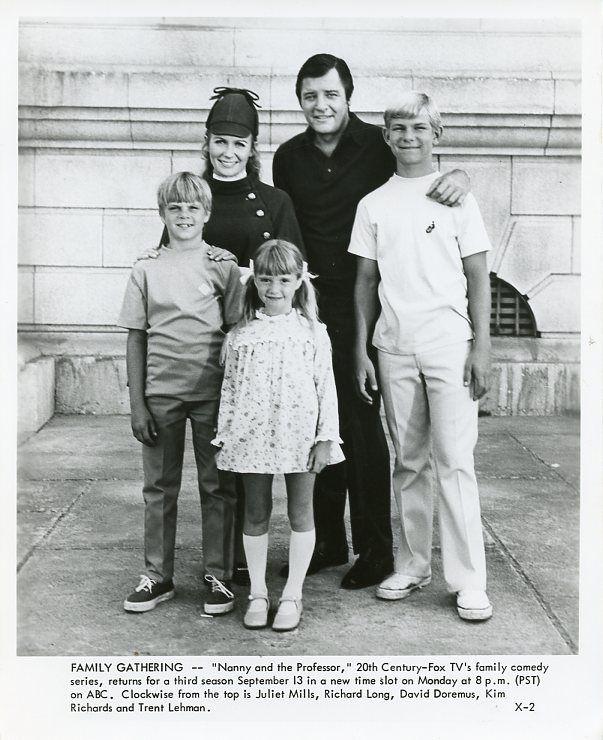 RICHARD_LONG_KIM_RICHARDS_TRENT_LEHMAN_NANNY_AND_THE_PROFESSOR_1970_ABC_TV_PHOTO