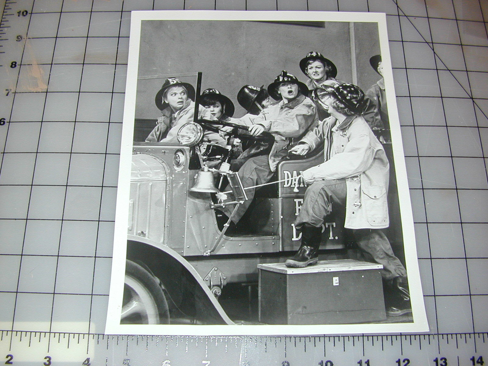 Original_Vintage_TV_Lucille_Ball_Lucy_Show_press_release_photo_Fire_Truck