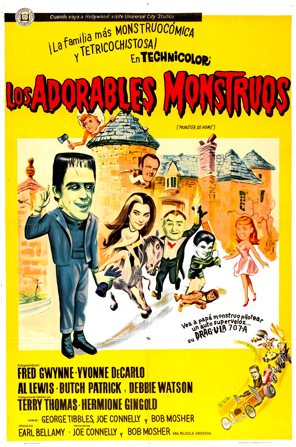 Los Adorables Monstruos | Munster Go Home | Latino | 1966