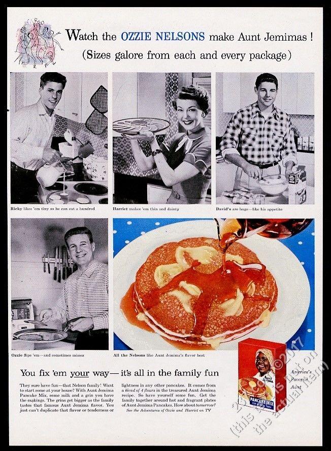 1956_Ricky_Nelson_Ozzie_Harriet_David_photo_Aunt_Jemima_Pancake_Mix_print_ad