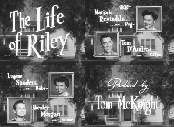 "Image result for 1953 - ""The Life of Riley"""