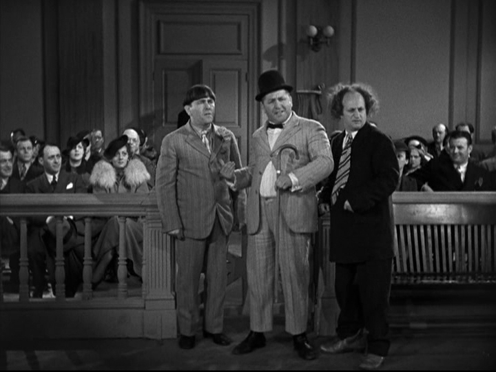three stooges disorder in the court