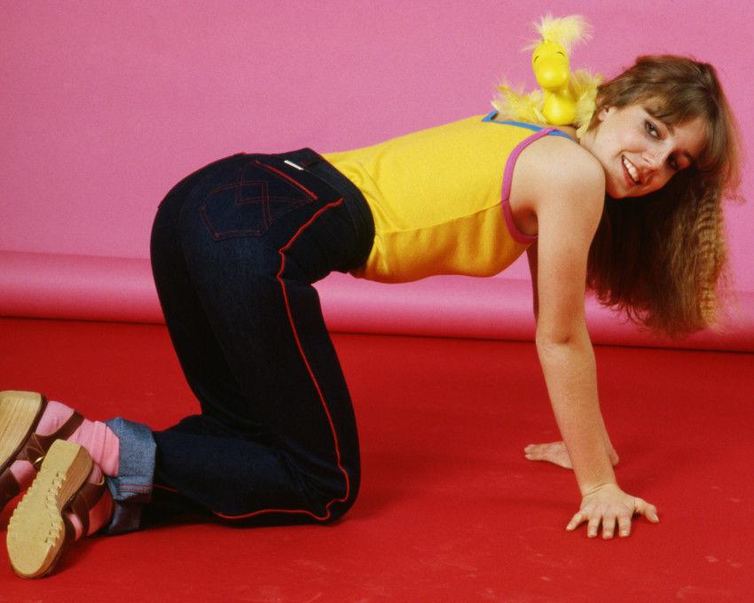 Dana_Plato_11x14_Photo_Denim_Jeans_Yellow_Top_On_Floor_Diff_Rent_Strokes_Star