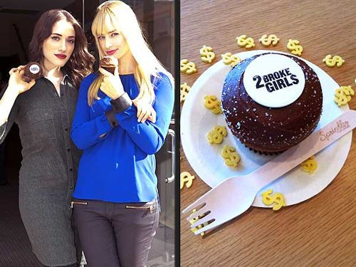 2 Broke Girls - National Vanilla Cupcake Day