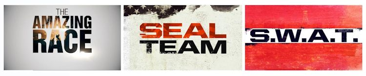 The Amazing Race, SEAL Team and S.W.A.T
