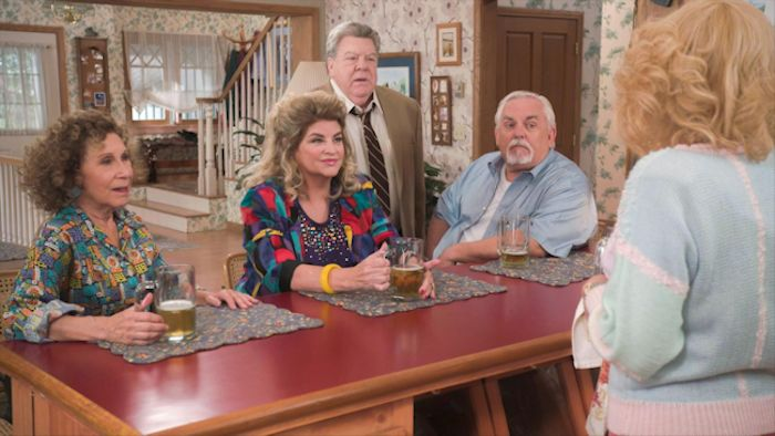 Rhea Perlman, Kirstie Alley, George Wendt and John Ratzenberger