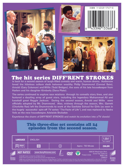 Diff'rent Strokes - The Complete Second Season - Back Cover