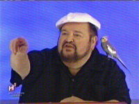 Dom DeLuise and his bird on Hollywood Squares - June 2003