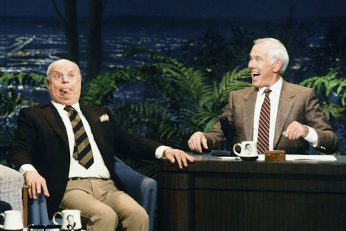 Don Rickles and Johnny Carson