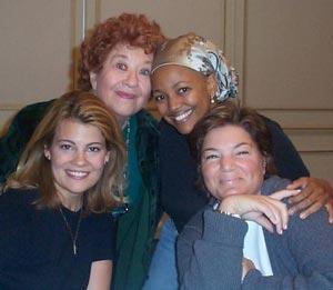 Charlotte Rae, Kim Fields, Lisa Whelchel, and Mindy Cohn