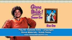 Gimme A Break! - Season One DVD Menu