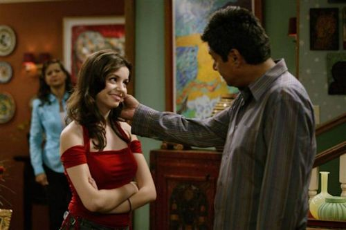 George Lopez and Masiela Lusha