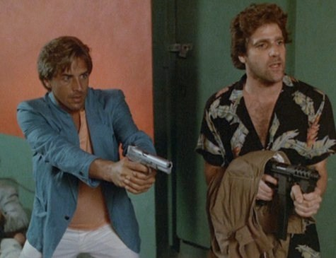 Don Johnson and Glenn Frey in Miami Vice