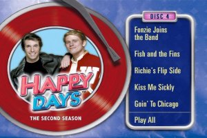 Happy Days - The Second Season DVD Menu