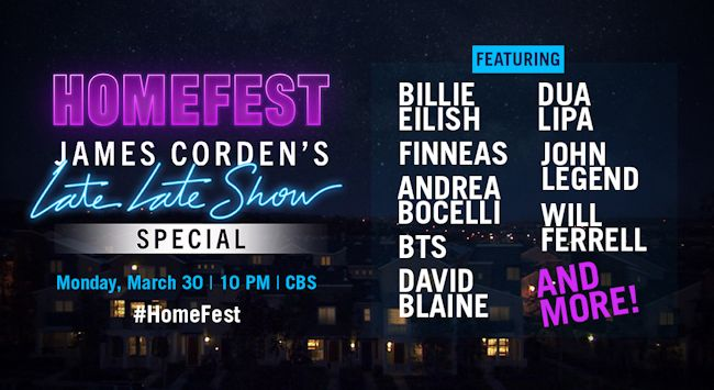 Homefest: James Corden's Late Late Show Special