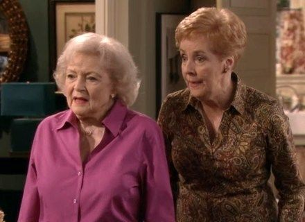 Hot in Cleveland - Betty White and Georgia Engel