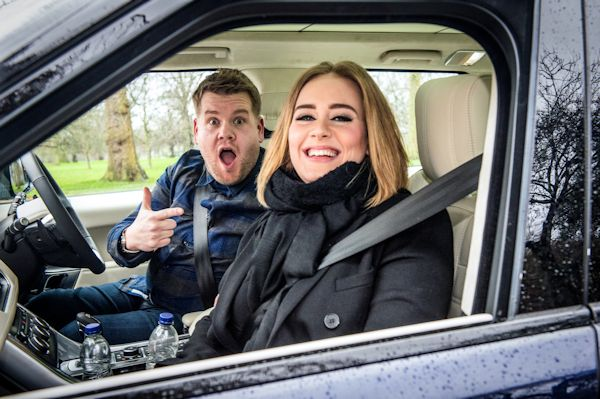 James Corden and Adele
