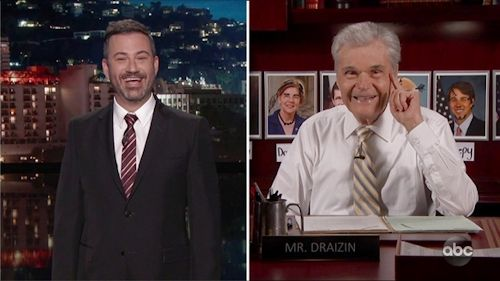 Jimmy Kimmel and Fred Willard