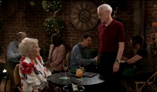 Betty White and John Mahoney - Hot in Cleveland
