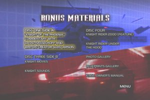 Knight Rider Bonus Materials DVD Menu