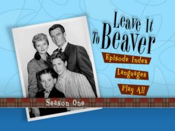 Leave it to Beaver - Season 1 DVD Menu