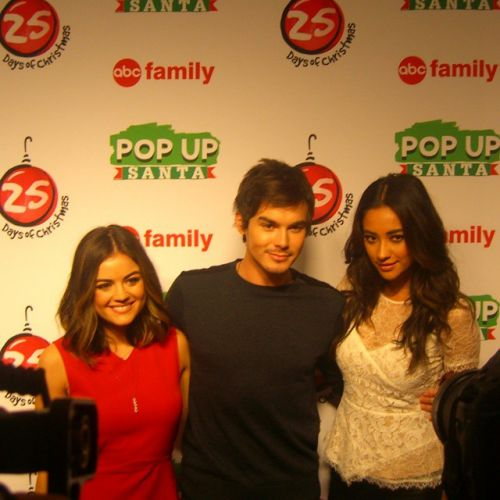 Lucy Hale, Shay Mitchell and Tyler Blackburn