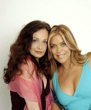 Lydia with her Too Close for Comfort co-star Deborah Van Valkenburgh