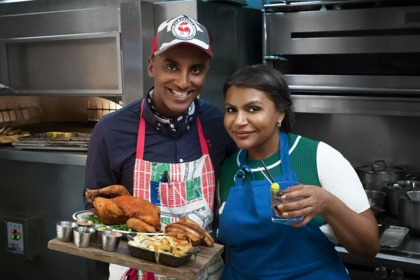 Marcus Samuelsson and Mindy Kaling