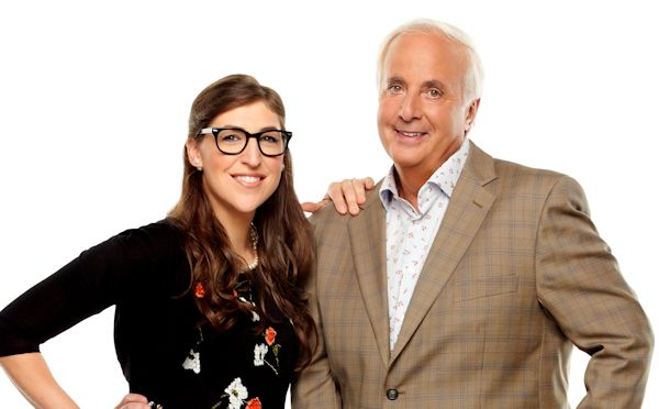 Mayim Bialik and Peter Funt