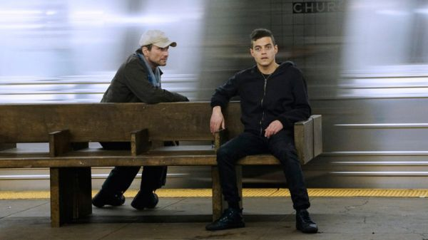 Mr. Robot - Christian Slater and Rami Malek