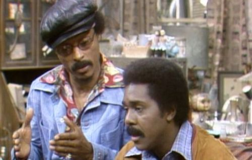 Nathaniel Taylor and Demond Wilson in Sanford and Son