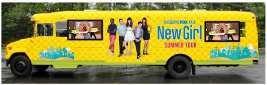 New Girl Bus Tour