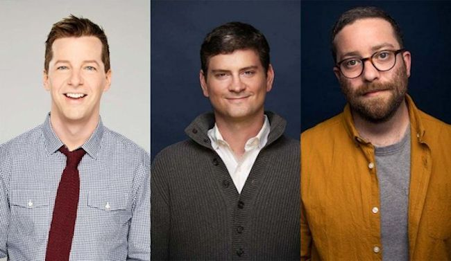 Sean Hayes, Mike Schur and Gabe Liedman