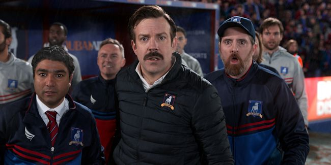 Ted Lasso - Nick Mohammed, Jason Sudeikis and Brendan Hunt