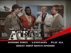 The A-Team Season 2 DVD Menu