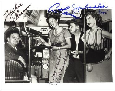 The Honeymooners autographed cast photo