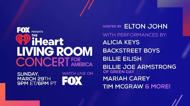The iHeart Living Room Concert for America