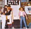 Todd Bridges and Dana Plato at a radio station promotion